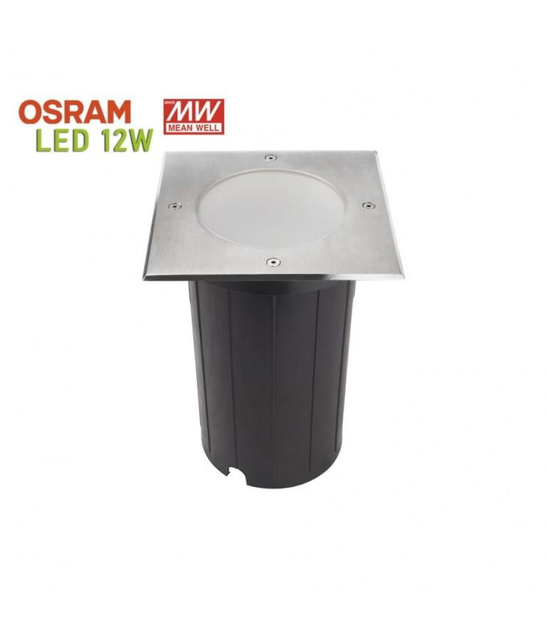 Foco Proyector LED 12W de suelo Cuadrado GIL190