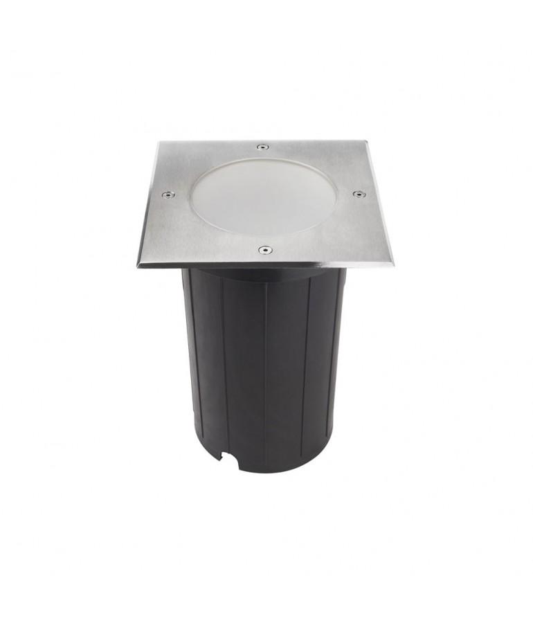 Foco Proyector E27 de suelo Cuadrado GIL190 INOX