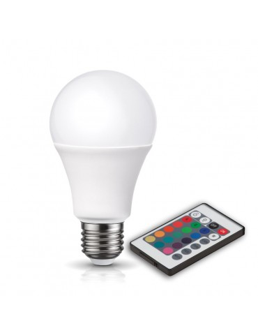 LED Multicolor RGB 6W E27 230V Remote control IR