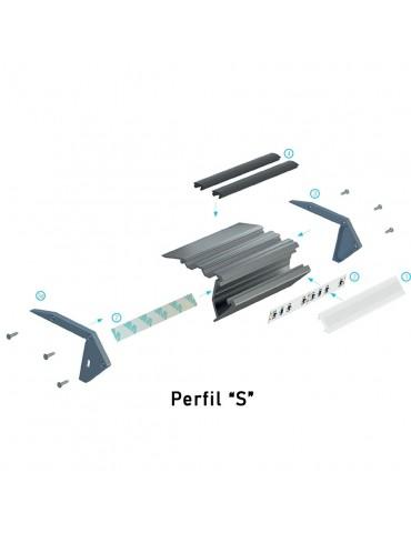 "Perfil ""S"" escalera diagrama"