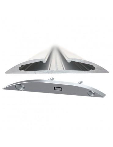 """Tapa final con agujero perfil aluminio plano """"R"""""""