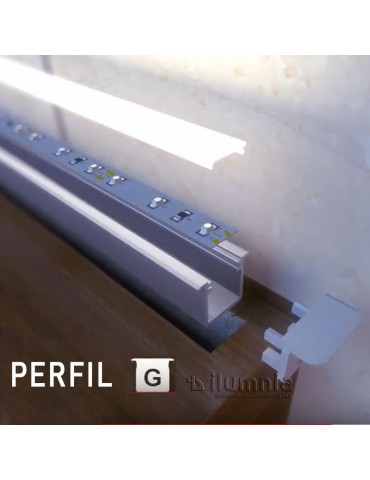 """Tapa final con agujero perfil aluminio Empotrar """"G"""""""