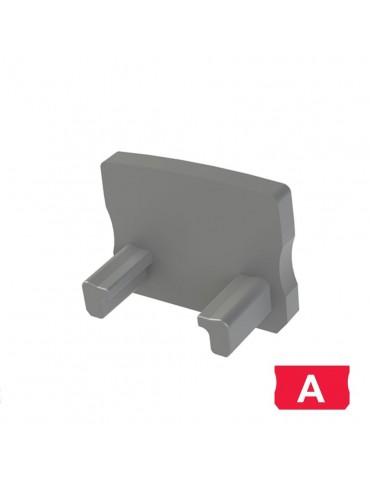 """Tapa final perfil aluminio Alto """"A"""" Tira led"""