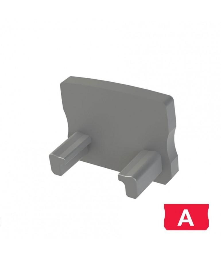 """Tapa final perfil aluminio Medio """"A"""" Tira led"""