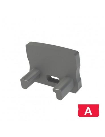 "Tapa final con agujero perfil aluminio Alto ""A"" Tira led"