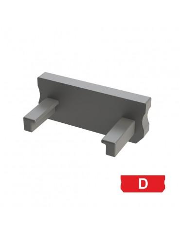 """Tapa final perfil aluminio BAJO """"D""""Tira led"""