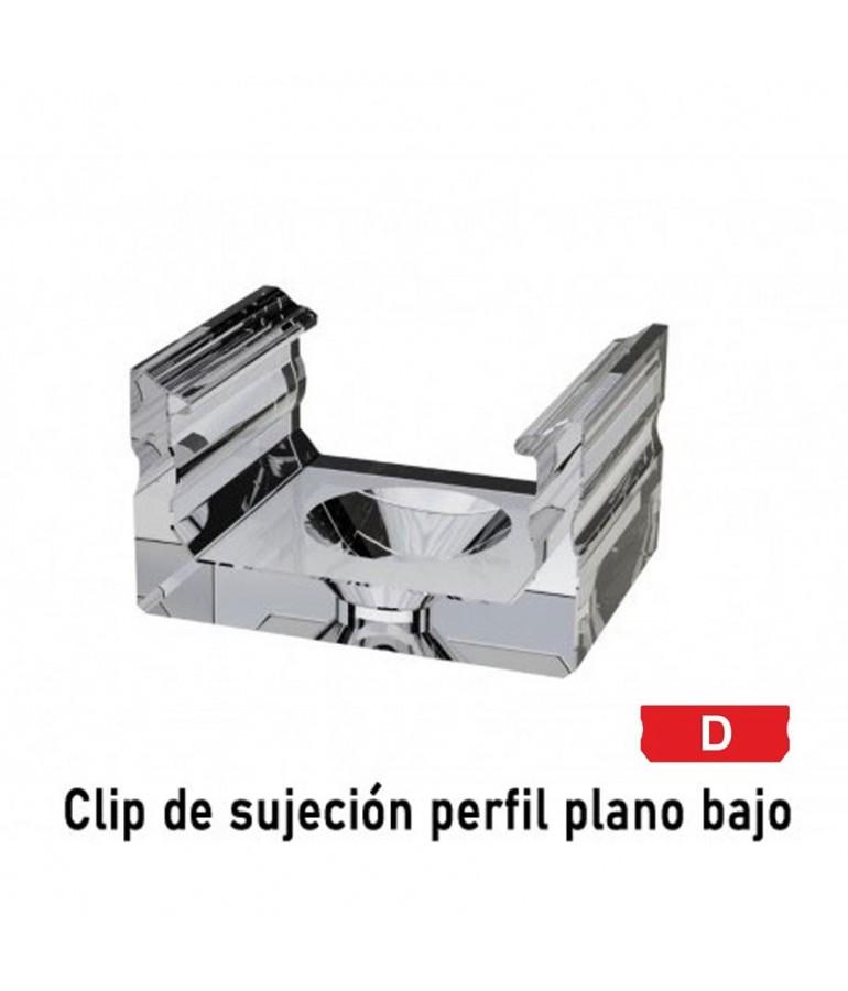 "Clip sujeción perfil ALUMINIO BAJO ""D"" superficie tira led"