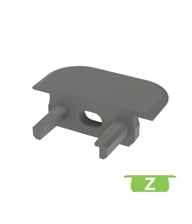 "Tapa final con agujero perfil EMPOTRAR ""Z"" Tira led"
