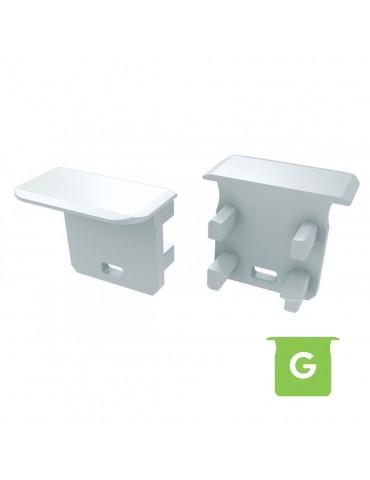 "Tapa final con agujero perfil aluminio ""G""Empotrar Tira led"