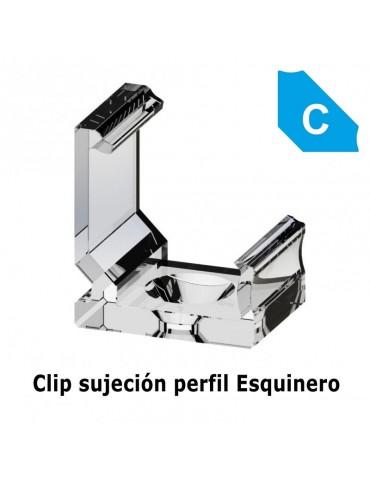 "Clip sujeción perfil ángulo 45 ""C"" aluminio tira led"