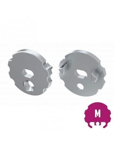 """Tapa final con agujero perfil circular""""M"""" Tira led"""