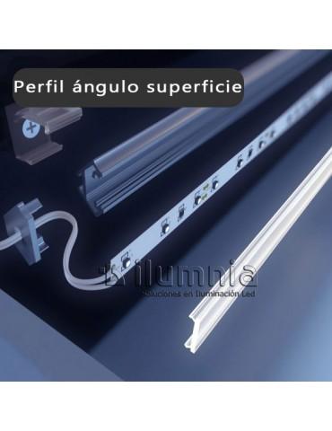 PERFIL ALUMINIO ANGULO 45°
