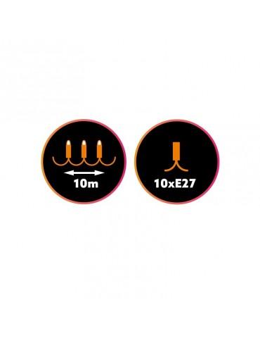 Guirnalda Exterior 10m 10 bombillas E27