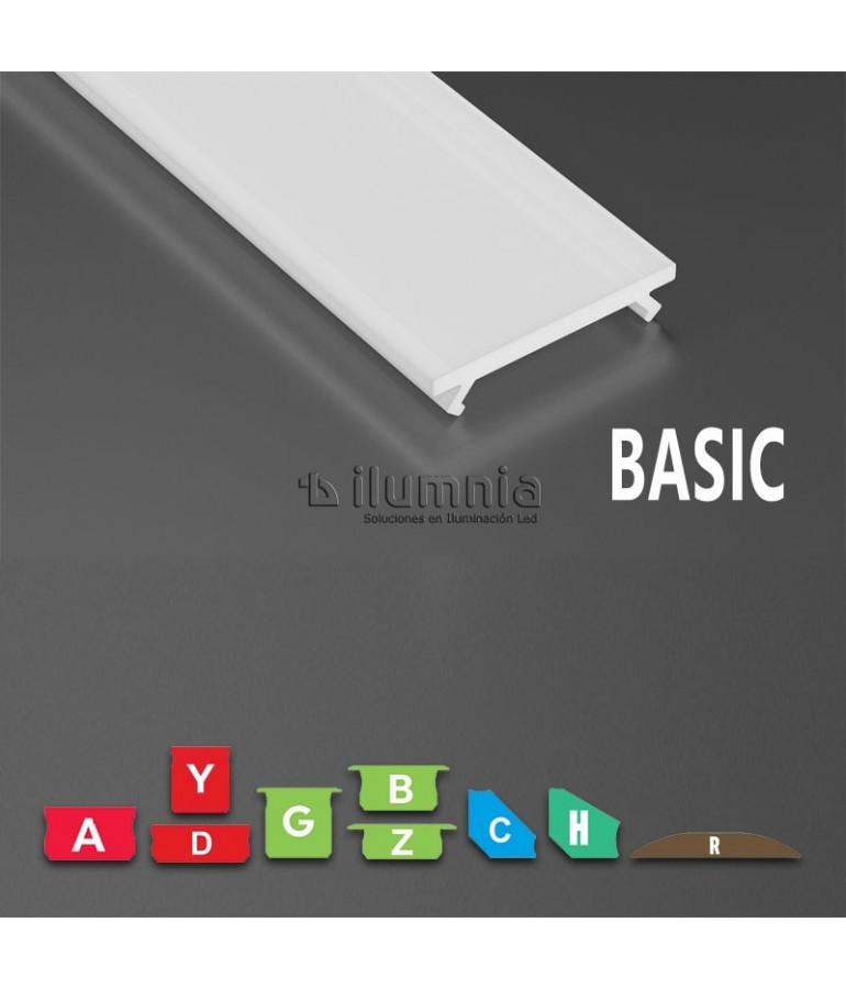 DIFUSOR GLASEADO BASIC MODELOS A,B,C,D,G,H,R,Y,Z,COS