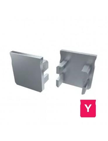 "Tapa final perfil aluminio Alto ""Y"" Tira led"