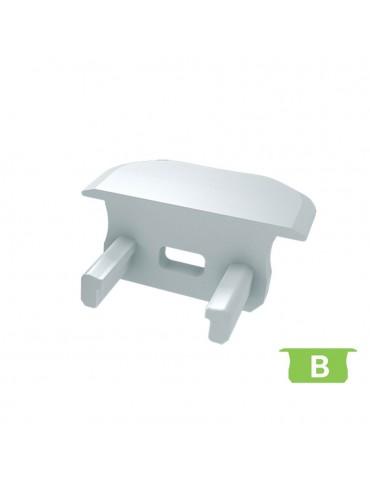 """Tapa final con agujero perfil aluminio Empotrar """"B"""""""