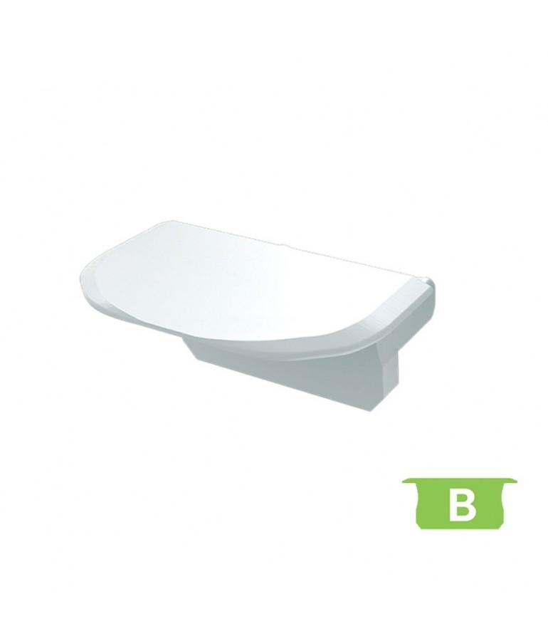 "Tapa final sin agujero perfil aluminio Empotrar ""B"""