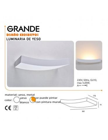 Aplique de pared yeso Rectangular GRANDE