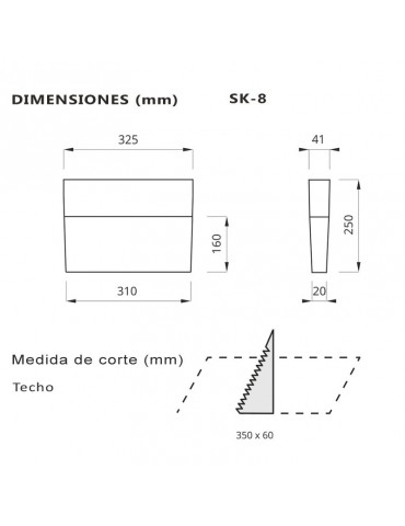 LUMINARIA LED DE SEÑALIZACIÓN EMERGENCIA Y EVACUACIÓN LED SK-8
