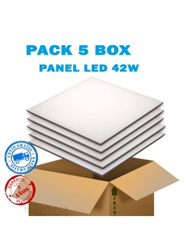 PACK AHORRO 5 PANEL LED 42W 60x60