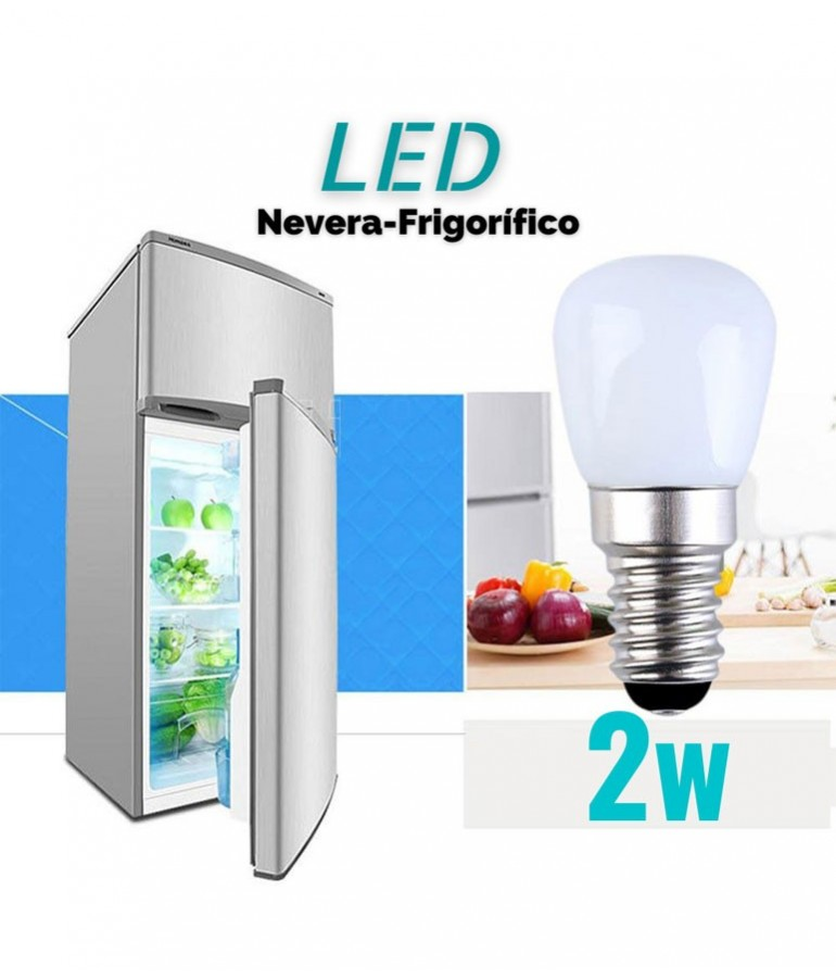 LED Nevera 2W E14 Cristal 360°