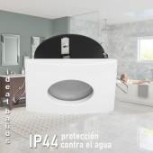 Aro de empotrar cuadrado IP44 Especial baños OH35 Blanco