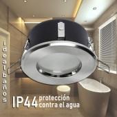 Aro de empotrar redondo IP44 Especial Baños Cromo