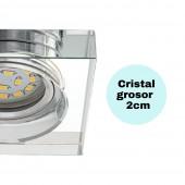 Aro empotrar cristal transparente detalle