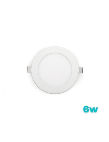 "PANEL LED Downlight 6W circular ""extra plano""empotrable"