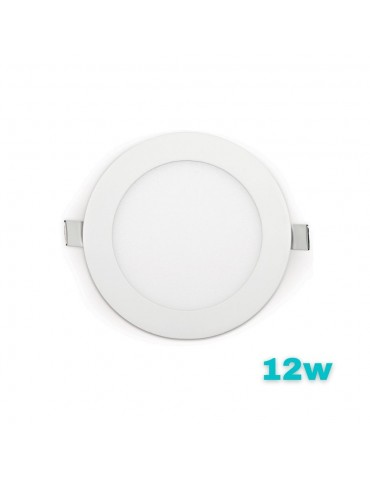 "PANEL LED Downlight 12W circular ""extra plano""empotrable"
