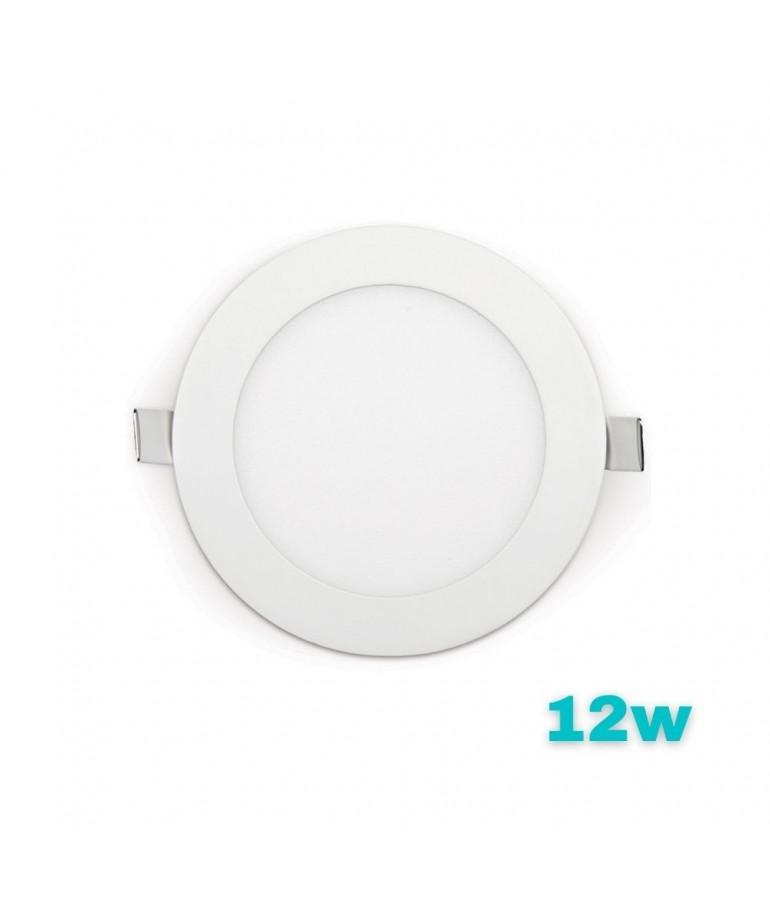 PANEL LED Downlight 12W circular Slim empotrable
