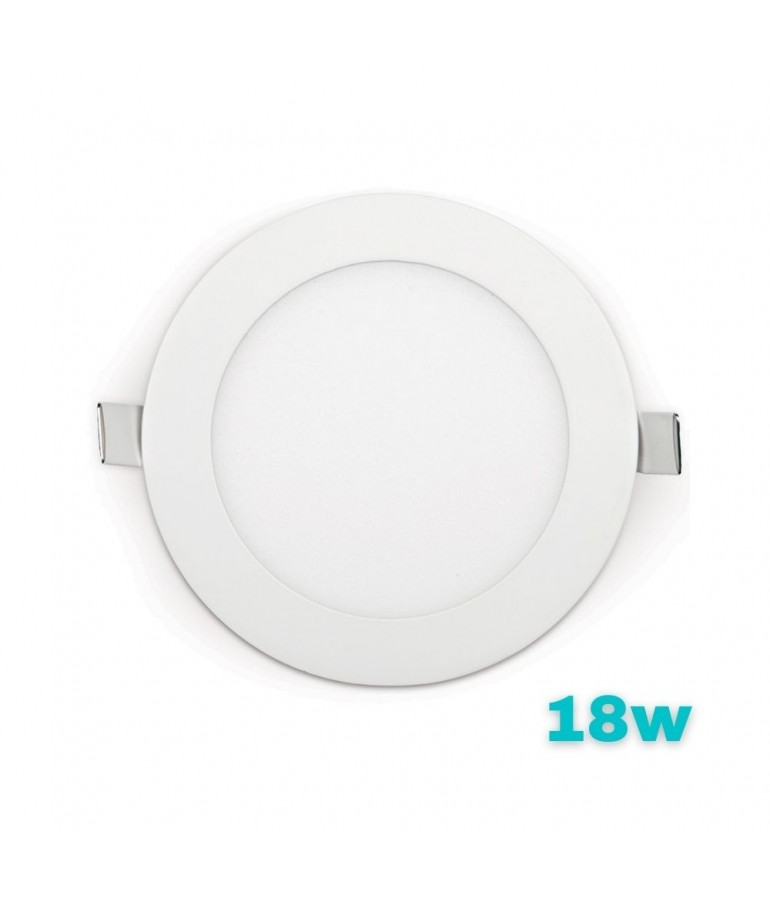 PANEL LED Downlight 18W Circular Empotrable Slim