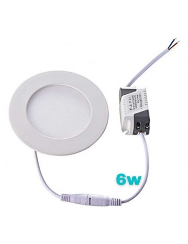 PANEL LED Downlight 6W circular Slim empotrable