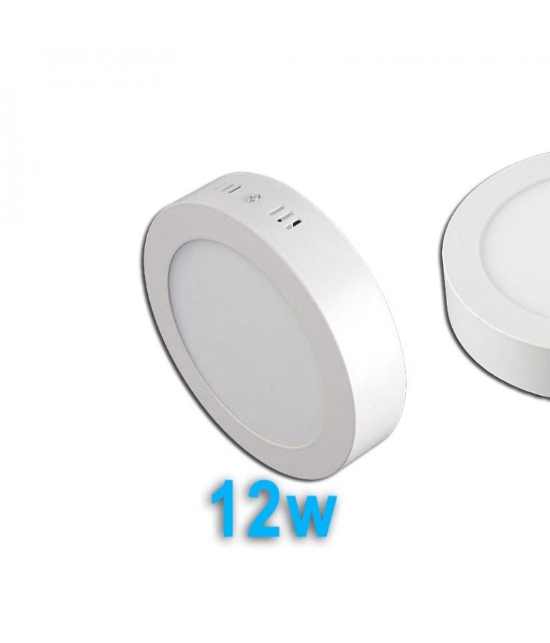 PANEL LED Downlight 12W circular de superficie