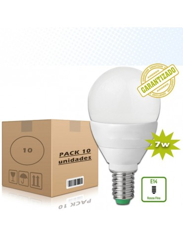 Pack 10Bombillas LED Esférica 7W E14