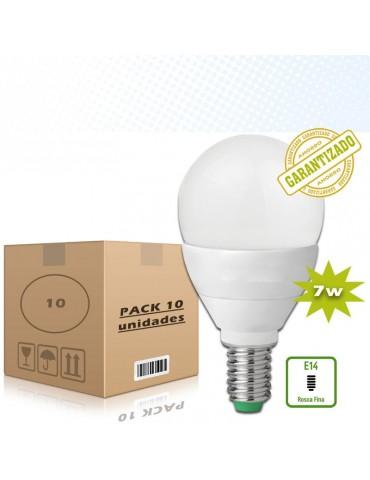 Pack 10Bombillas LED Esférica 7W E14