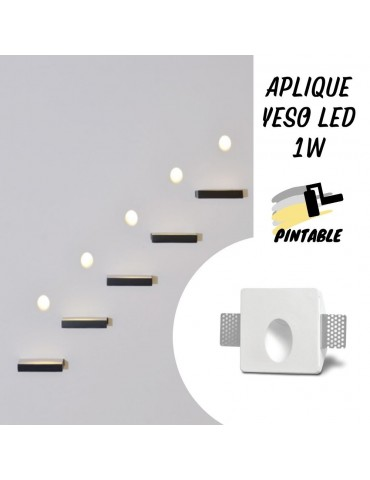 Aplique LED Pared Yeso MARCO 1W