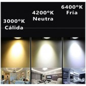 """PANEL LED Downlight 18W Circular Empotrable """"Extraplano"""""""