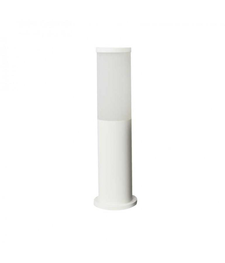 Baliza Redonda ZEZA 411mm E27 Resina blanca