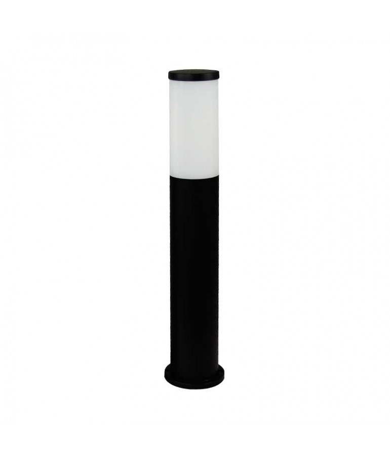 Baliza Redonda ZEZA 581mm E27 Resina Negro