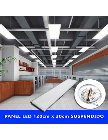 KIT DE MONTAJE EN SUSPENSIÓN PANEL LED 60x60cm,120x30cm