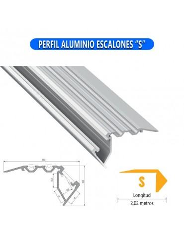 "PERFIL ALUMINIO ESCALONES ""S"" TIRA DE LED"