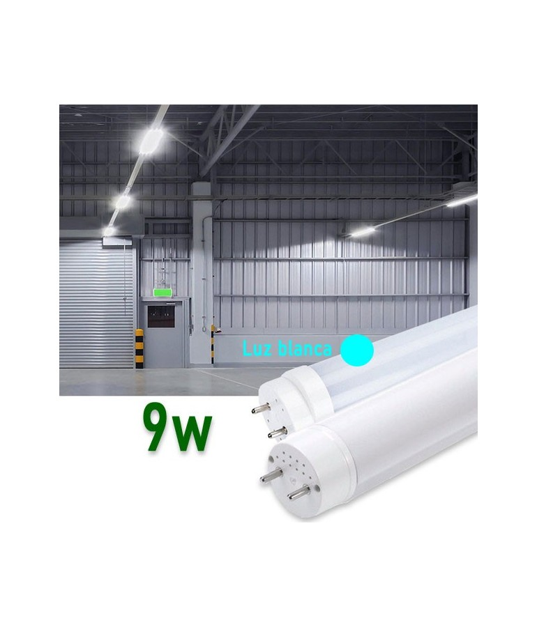 Tubo LED T8 60cm 9W Cristal 360° 6400ºK Blanco frío