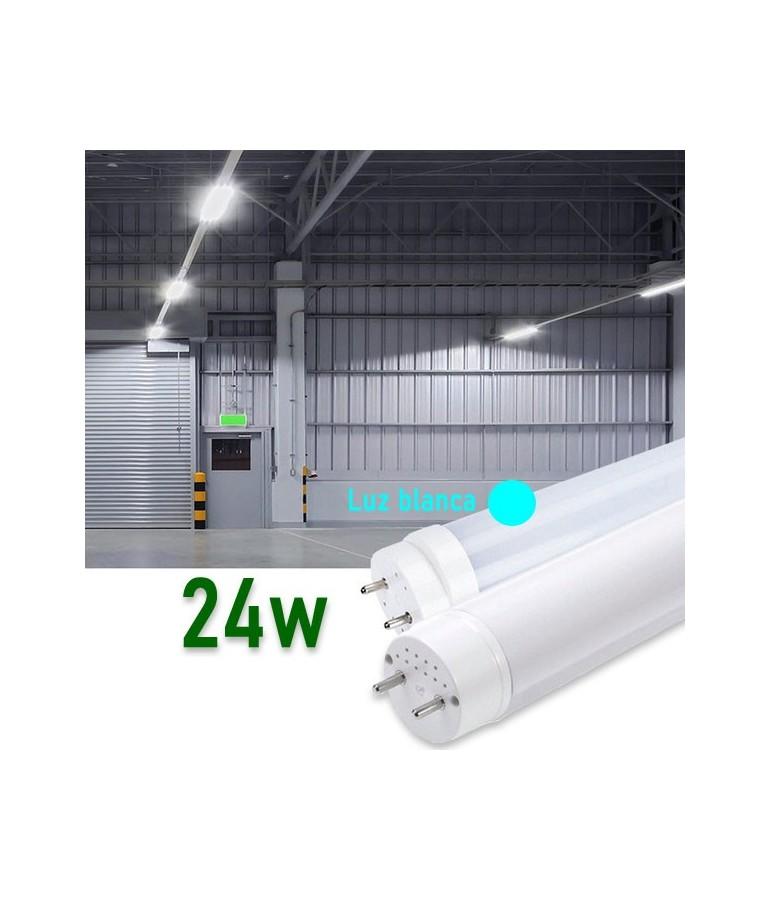 Tubo LED T8 150cm 24W Cristal 360°Luz fría