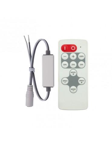 Mini Controlador Tira leds 12v mando RC 8 PROGRAMAS