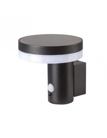 Aplique Solar LED Pared CIRCULAR con detector movimiento PIR