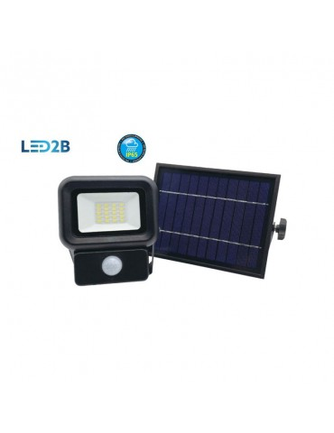 Foco Solar LED 10W Sensor de movimiento