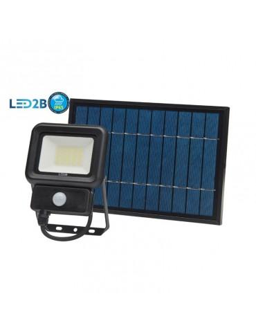 Foco Solar LED 20W Sensor de movimiento con Placa Solar