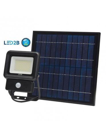 Foco Solar LED 30W Sensor de movimiento con Placa Solar