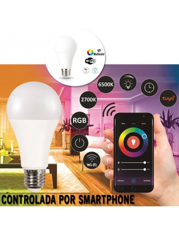 Bombilla LED SMART WIFI 9.5W E27 RGB